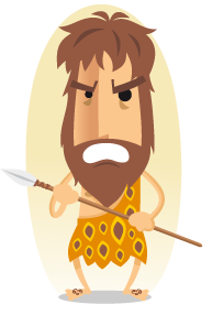 cartoon image of a caveman