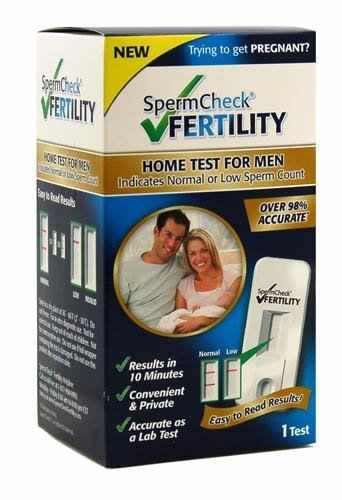 spermcheck home fertility male sperm test review