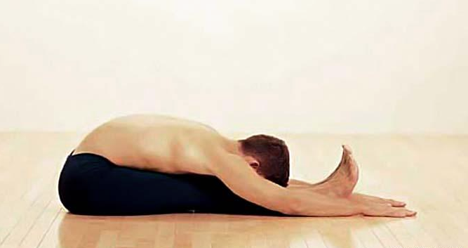male fertility yoga hamstring strech